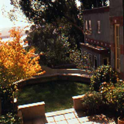 Terrace and garden of the Sala house, Albany, California