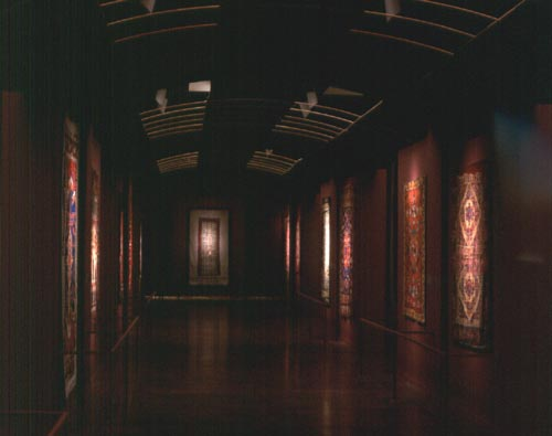 Views of the 15th century carpets in the San Francisco Museum Gallery
