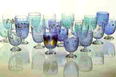 Exhibition of drinking glasses by Christopher Alexander, Royal Dutch Glassworks Museum