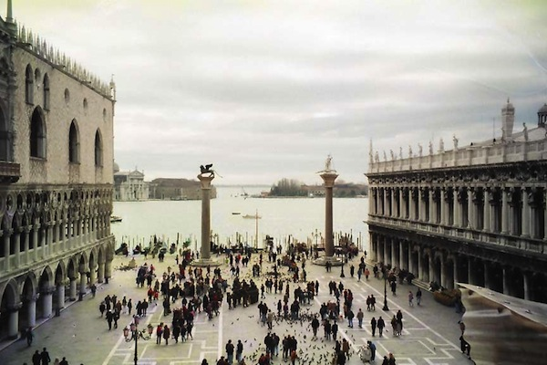 St Mark's square, Venice, and the mouth of the river