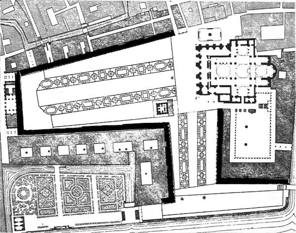 The final layout of St Mark's square