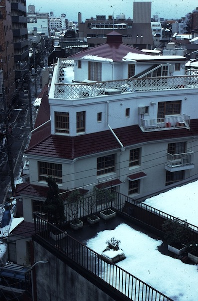 An apartment building in Emoto, Japan