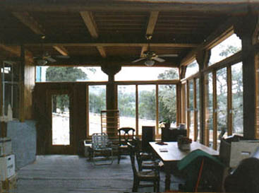 Enclosed porch, looking to commons land