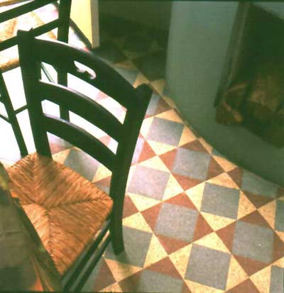 The checkered floor from the Upham house